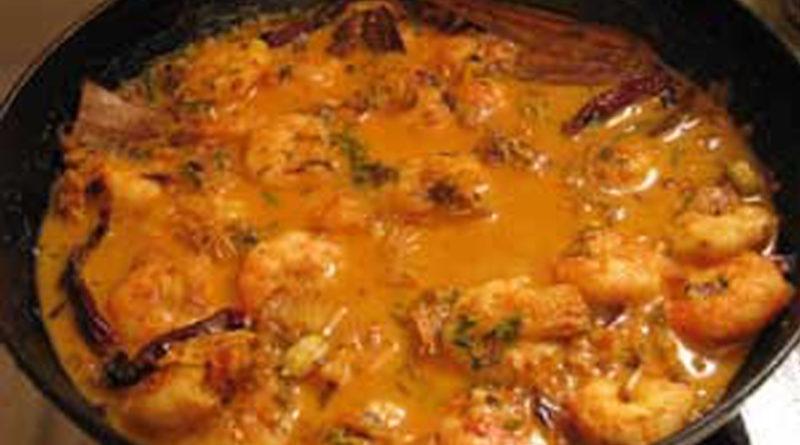 gamberoni in salsa indiana